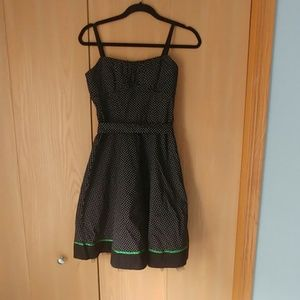 Marices polka dot dress with green accents